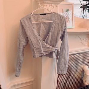 Brandy Melville wrap around top